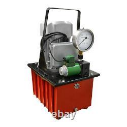 Electric Air Pumper Single Acting Hydraulic Pump Solenoid Valve 8L Foot Pedal
