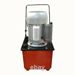 Electric Manual Air Pumper DoubleActing Hydraulic HandPump 8L Oil Power 10000PSI