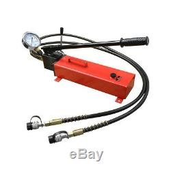 Electric Manual Air Pumper Double Acting Hydraulic Hand Pump MH8 Pressure Gauge