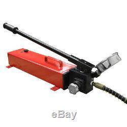 Electric Manual Air Pumper Single Acting Hydraulic Hand Pump MH7 Pressure Gauge