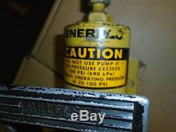 Enerpac Air / Hydraulic Foot Pump- yes works