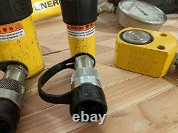 Enerpac LOT PATG1102N Turbo II Air Hydraulic Pump with cylinders/pump/hoses ext