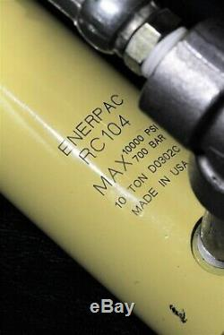 Enerpac PA133 Air Driven Hydraulic Foot Pump with Enerpac RC104 Hydraulic Cylinder