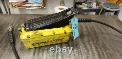 Enerpac PATG1102N Turbo II Air/Hydraulic Foot Pump 10K. Ships Oil Drained. Lot#5