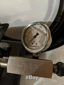 Enerpac Patg1105n Turbo 2 Air Driven Hydraulic Foot Pump 700 Bar/10,000 Psi