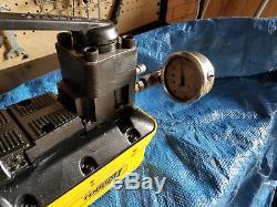 Enerpac Turbo II Air Hydraulic Pump, 4-way Manual Valve Tested See Video