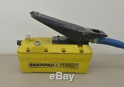 Enerpac Turbo Model PAT1102N Air Powered Hydraulic Foot Pump 10,000 PSI with Hose