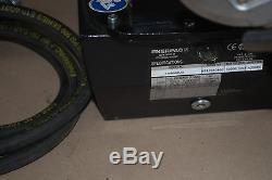 Enerpac Za4608mx Air Driven Hydraulic Pump 3way 3pos Valve Hose & Gauge Za4208mx