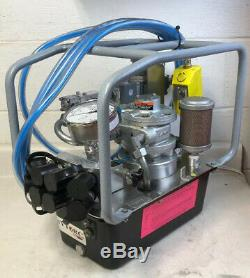 HYTORC HY-AIR-2 PNEUMATIC HYDRAULIC TORQUE WRENCH PUMP Mint CALIBRATED #B100