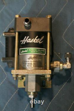 Haskel Air Driven Hydraulic Pump Mod. MS-71 711 ratio 8K PSI Max