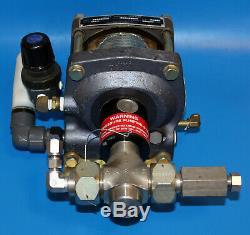 Haskel DSF-60 1.5HP Air-Driven Liquid Pump 55389 150 PSIG Max outlet 9800 PSIG
