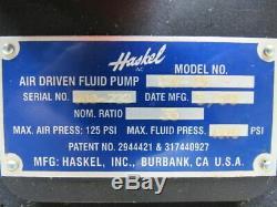 Haskel GW-35 6 HP Piston Pump /For Liquids / Air Driven