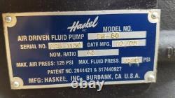Haskel Gw-60 Pneumatic Air Liquid/ Fluid Pump 7500 Psi/ 517 Bar 601 Ratio #2