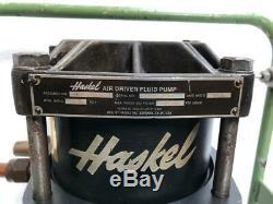 Haskel Hf-b300 Air Driven Fluid Pump 50,000 Psi Pump 2500 Bar Gauge (2)