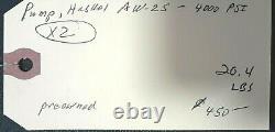 Haskel Pump 4000psi Aw-25 Air Op, Pessco Is Offering 1 Used #112120-1-2