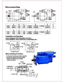 Hydraulic Dump Pump C101-XAS-25, air control, Remote Mount, Parker C101D-2.5-A