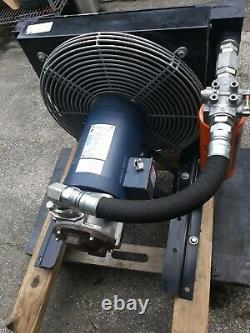 Hydraulic Forced Air Oil Cooler, 12 HP Heat Removed, 208 to 230/460VAC