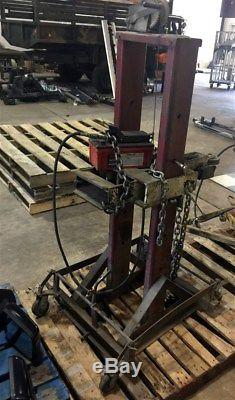 Hydraulic Frame Machine 5 Ton Portable Puller Post Norco Air Foot Pump Chains
