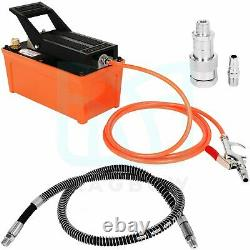 Hydraulic Pump 10000 PSI 1.7L Air Powered Foot Reservoir with Hose & Coupler