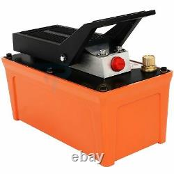 Hydraulic Pump 1.7L Air Powered with Hose & Coupler Foot 10000 PSI Reservoir