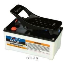 K Tool International HJ3501 Air Hydraulic Foot Pump With Nylon Case