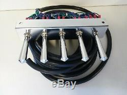 LOWRIDER HYDRAULICS /AIR RIDE FBSS PANCAKE 2/4 PUMP PRE-WIRED With 17 FT 5 SWITCH