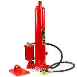 Long Air Hydraulic Ram Jack Double Pump Engine Hoist Lifter 8 Ton Stark
