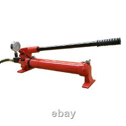 MH3 Manual 10,000 PSI Air Hydraulic Hand Pump Pressure Gauge 72 Hose Coupler
