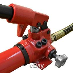MH4 Manual 10,000 PSI Air Hydraulic Hand Pump 50 Hose & Coupler Included