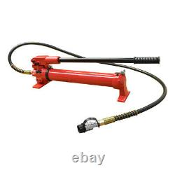 MH5 Manual 10,000 PSI Air Hydraulic Hand Pump 72 Hose & Coupler Included