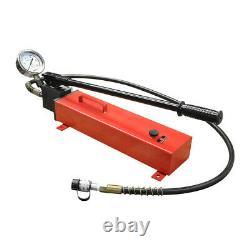 Manual Pumper Single Acting Air Hydraulic Hand Pump MH7 Pressure Gauge