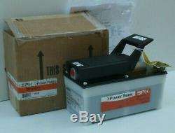 NEW SPX Power Team PA6 Air/Hydraulic Foot Pump, 10,000 psi, NEW in Factory Box