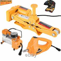 New 3Ton 12V Car Electric Hydraulic Floor Lift With Impact Wrench Air Pump