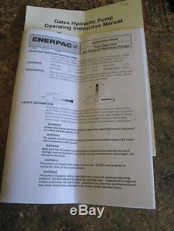 New Gates #77820 (Enerpac PA-133) Air Powered Hydraulic Pump, 10,000 psi