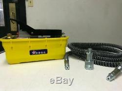New Hydraulic Air Foot Pedal Pump 10,000 PSI For Auto Body Frame Machines Press