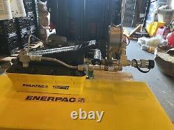 New In Box Enerpac Patg-1102n Turbo II Hydraulic Pump 2 With G4040l Gauge