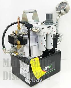 New SPX Power Team Classic Series Air RWP55-BS Air Hydraulic Pump 3hp 10kpsi