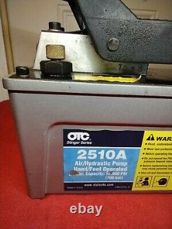 OTC 2510A Stinger 10,000 PSI Foot Operated Air/Hydraulic Pump for Rams, free shi