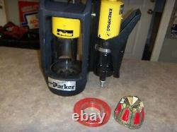 Parker Bench Hose Crimping Machine, Air Over Hydraulic Pump30 Ton Max Crimping