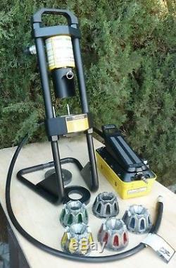 Parker KarryKrimp Hydraulic Hose Crimper, Air/Hydraulic Pump 5 Dies 2 Rings Hose