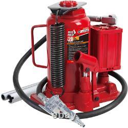 Pneumatic Air Hydraulic Bottle Jack & Manual Hand Pump 20 Ton 40,000 lb Capacity