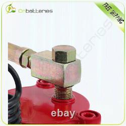 Pneumatic Air Hydraulic Bottle Jack with Manual Hand Pump, 12 Ton (24,000 lb)