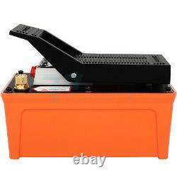 Pneumatic Hydraulic Pump 1.7L Foot Pedal 10000 PSI Reservoir Pump with Hose