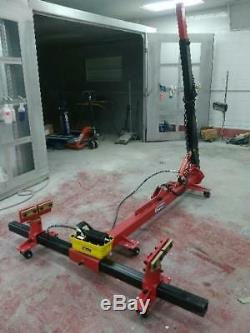 Portable Auto Body Puller Frame Straightener + clamps + Foot Pump FREE AIR JACK