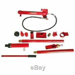 Red 10 Ton Hydraulic Jack Body Frame Repair Air Pump Autobody equipment repair