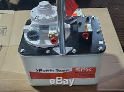 SPX Power Team 10,000 PSI 2-Speed Hydraulic Pump with Rotary Air Motor