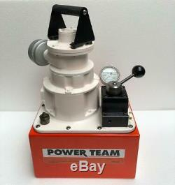 SPX Power Team PA554 Air Operated Power Pack 4-Way Valve 700 Bar/10,000 PSI