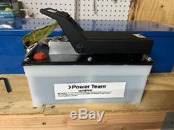 SPX Power Team PA6M Air Hydraulic Pump Foot Operated Air/Oil Pump, New-Open-Box