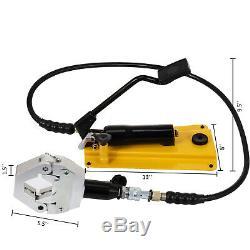 Split Hydraulic A/C Hose Crimper 6 Dies with Foot Pump Air Conditioner Repair Kit