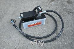 Spx Power Team Pa6 Hydraulic Foot Pump Air Driven 10,000psi W Hose